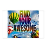 Find Your Awesome Postcards (Package of 8)