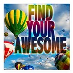 Find Your Awesome Square Car Magnet 3
