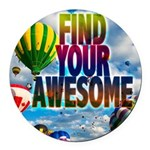 Find Your Awesome Round Car Magnet