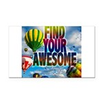 Find Your Awesome Rectangle Car Magnet