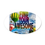 Find Your Awesome Oval Car Magnet