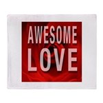 Awesome Love Throw Blanket