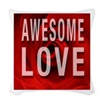 Awesome Love Woven Throw Pillow