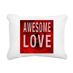 Awesome Love Rectangular Canvas Pillow