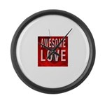 Awesome Love Large Wall Clock