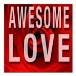 Awesome Love Square Car Magnet 3