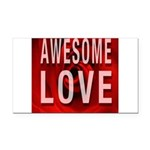 Awesome Love Rectangle Car Magnet