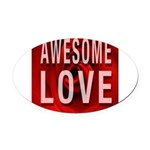 Awesome Love Oval Car Magnet