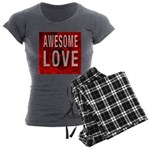 Awesome Love Women's Charcoal Pajamas