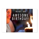 Awesome Birthday Postcards (Package of 8)