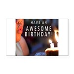 Awesome Birthday Rectangle Car Magnet