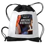 Awesome Birthday Drawstring Bag