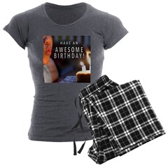 Awesome Birthday Women's Charcoal Pajamas