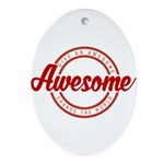 Give an Awesome Oval Ornament