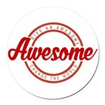 Give an Awesome Round Car Magnet