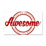 Give an Awesome Rectangle Car Magnet