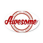 Give an Awesome Oval Car Magnet