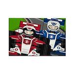 Racing Cars Rectangle Magnet (10 Pk)