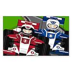 Racing Cars Sticker (Rectangle 10 pk)
