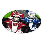 Racing Cars Sticker (Oval 10 pk)