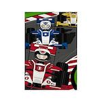 Racing Cars Rectangle Magnet (100 Pk)