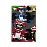 Racing Cars Rectangle Magnet (10 pack)