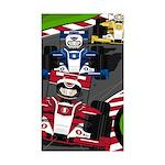 Racing Car Sticker (Rectangle 10 pk)