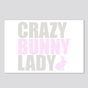 CRAZY BUNNY LADY Postcards (Package of 8)