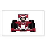 Red Racing Car Sticker (50 pk)