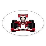 Red Racing Car Sticker (10 pk)