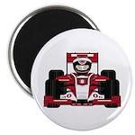 Red Racing Car Magnet