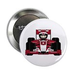 """Red Racing Car 2.25"""" Button"""