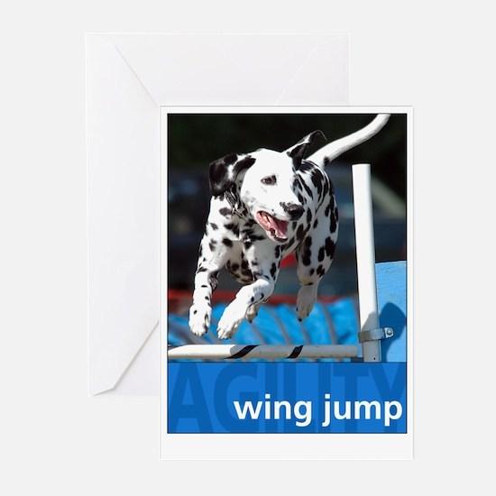 Agility Dalmatian : Wing Jump Greeting Cards