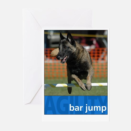 Agility Malinois : Bar Jump Greeting Cards