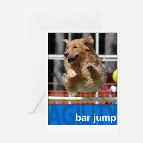Agility Golden : Bar Jump Greeting Cards