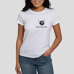Never Say Die Logo 1 Women's T-Shirt Design Front