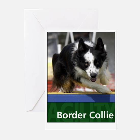 Agility Border Collie Greeting Cards