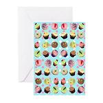 Polka Dot Cupcakes Greeting Cards (Pk of 20)