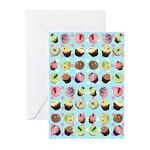 Polka Dot Cupcakes Greeting Cards (Pk of 10)