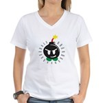 Mr. Bomb Women's V-Neck T-Shirt