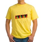 Colorful Piano Yellow T-Shirt