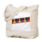 Colorful Piano Tote Bag
