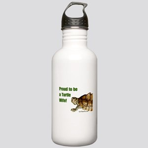 Proud to be a Turtle Wife Stainless Water Bottle 1