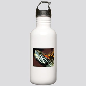 Red Eared Slider Close Stainless Water Bottle 1.0L