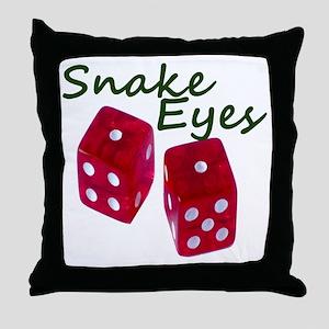 Gambling Snake Eyes Dice Throw Pillow