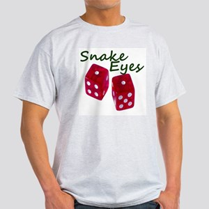 Gambling Snake Eyes Dice Light T-Shirt