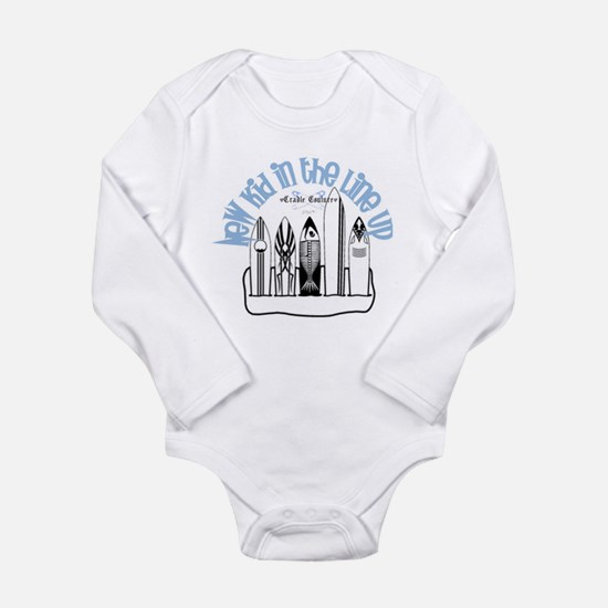 New Kid in the Line Up Long Sleeve Infant Bodysuit