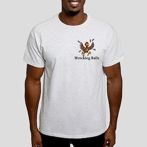 Wrecking Balls Logo 14 Light T-Shirt Design Front