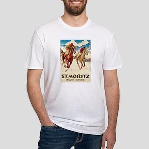 St. Moritz Engadin Schweiz Fitted T-Shirt