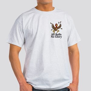 All Balls No Glory Logo 14 Light T-Shirt Design Fr